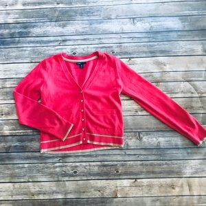 Girls pink button up cardigan! Size 12